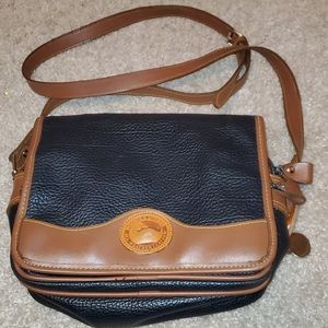 Dooney and Bourke black & brown leather crossbody